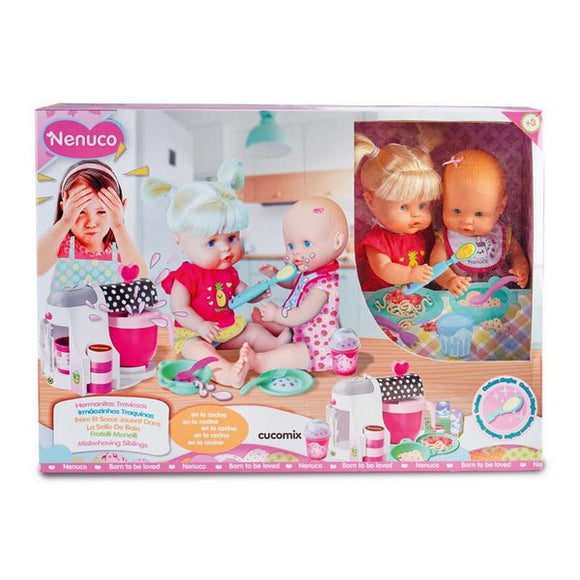 Baby Doll with Accessories Nenuco Sisters In The Kitchen Famosa