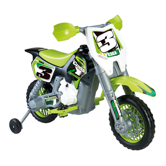 Motorcycle Feber Rider Cross 6 V Electric Green (82 X 57 x 119 cm)