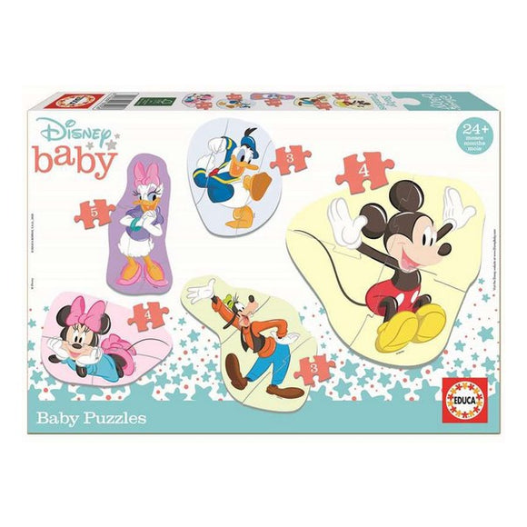 Set of 5 Games Mickey & Friends Educa