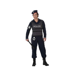 Costume for Adults Policeman Blue