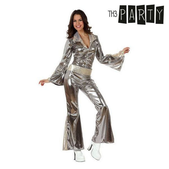 Costume for Adults Disco Silver (2 Pcs)