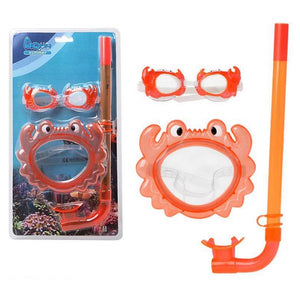 Snorkel Goggles and Tube for Children 115098 Orange