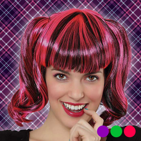 Halloween Wig Bicoloured 118394