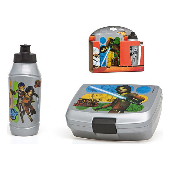 Picnic Holder and Bottle Included Star Wars (2 pcs)