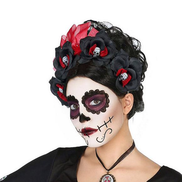 Headband Skull Mexican woman