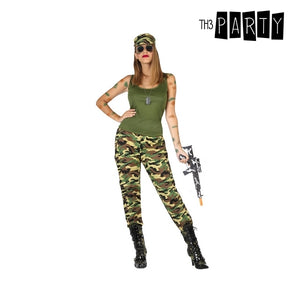 Costume for Adults Camouflage Green (3 Pcs)