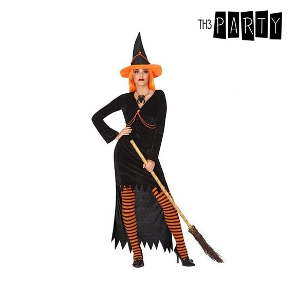 Costume for Adults Witch Orange (2 Pcs)