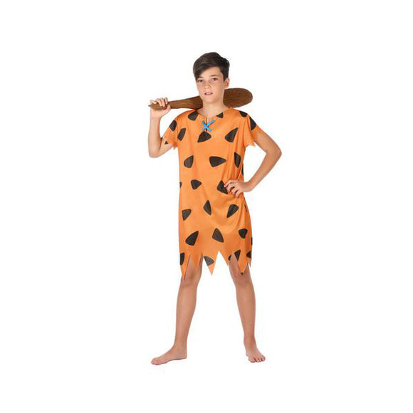 Costume for Children Caveman Orange (1 Pc)