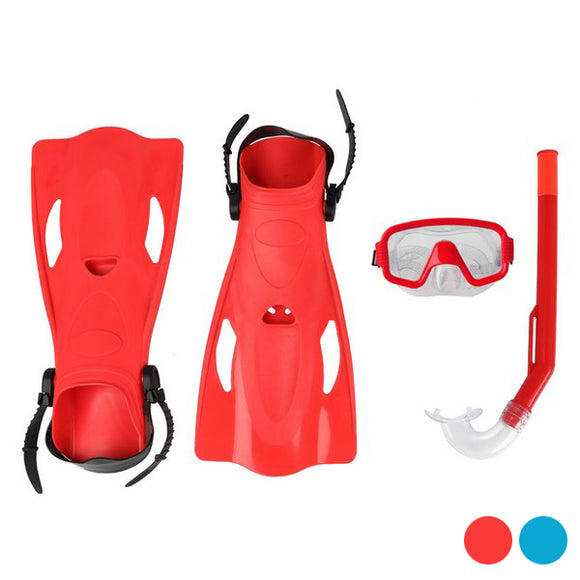 Diving Goggles with Snorkle and Fins Adults