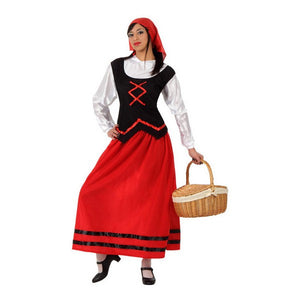 Costume for Adults Shepherdess Red (4 Pcs)