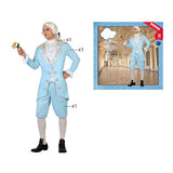 Costume for Adults 117836 Male courtesan Sky blue (3 Pcs)