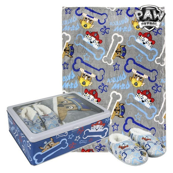 Metal Box with Blanket and Slippers The Paw Patrol 73671