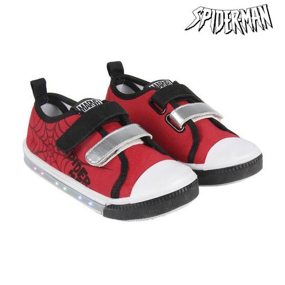 Casual Shoes with LEDs Spiderman 73626 Red