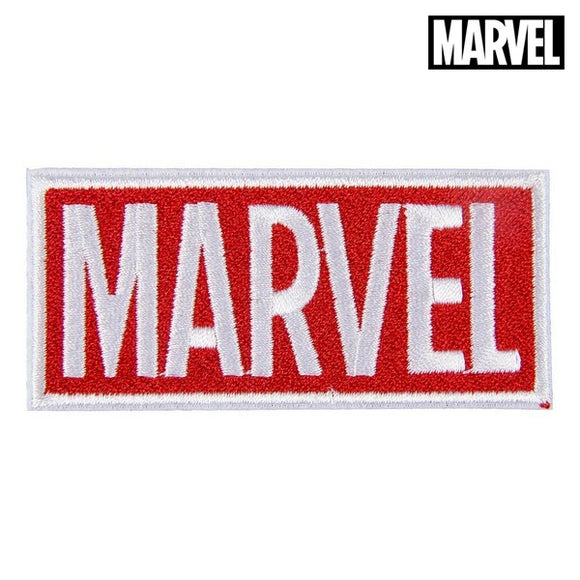 Patch Marvel White Red Polyester