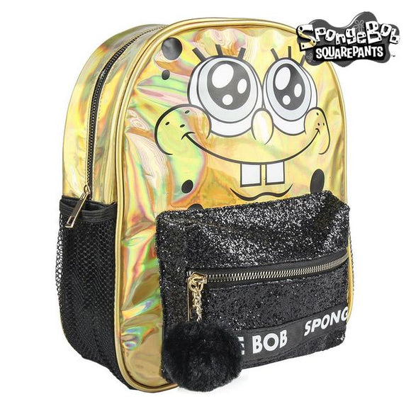 Casual Backpack Spongebob 72721 Golden Black