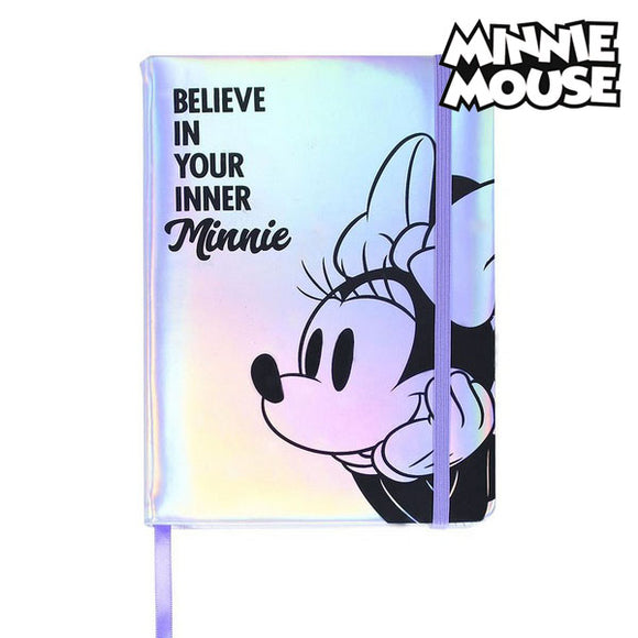 Notebook with Bookmark Minnie Mouse A5 Lilac