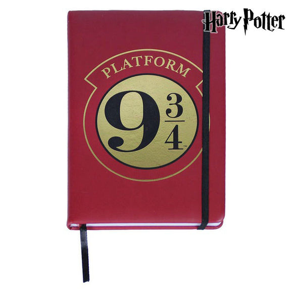 Notebook with Bookmark Harry Potter A5 Burgundy