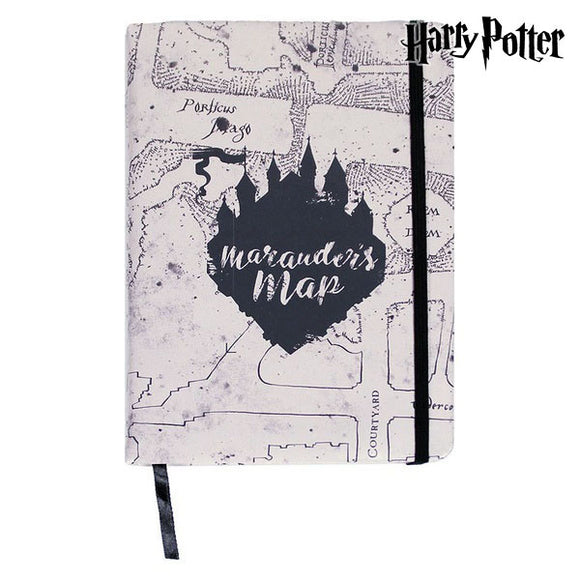 Notebook with Bookmark Harry Potter A5 Brown