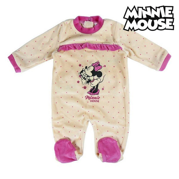 Baby's Long-sleeved Romper Suit Minnie Mouse 74620 White