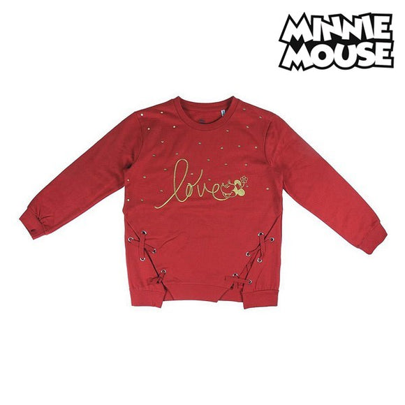 Hooded Sweatshirt for Girls Minnie Mouse 74245 Red