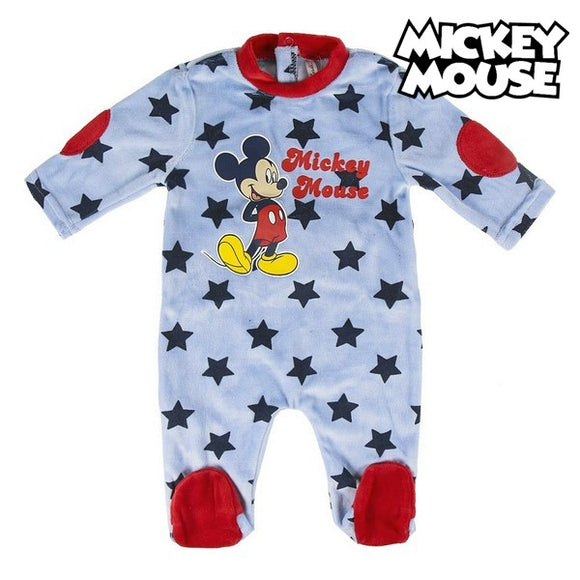Baby's Long-sleeved Romper Suit Mickey Mouse 74656 Blue
