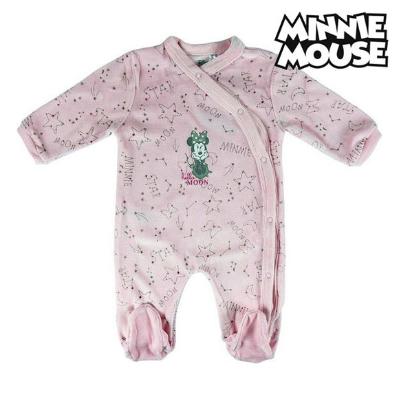 Baby's Long-sleeved Romper Suit Minnie Mouse 74621 Pink