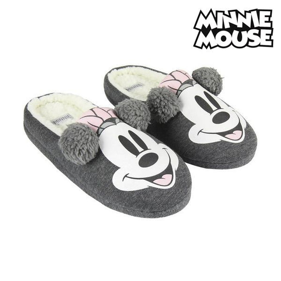 House Slippers Minnie Mouse Grey