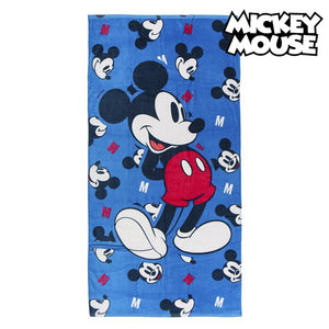 Beach Towel Mickey Mouse 75491 Cotton Navy blue
