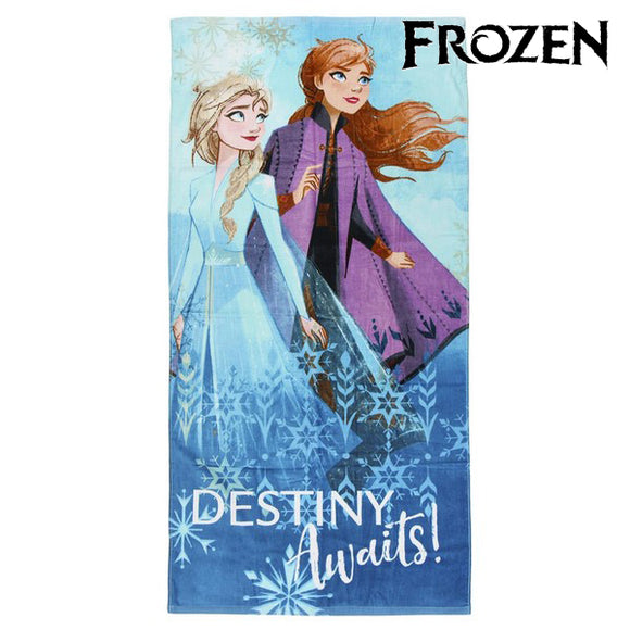 Beach Towel Frozen 75497 Cotton Blue