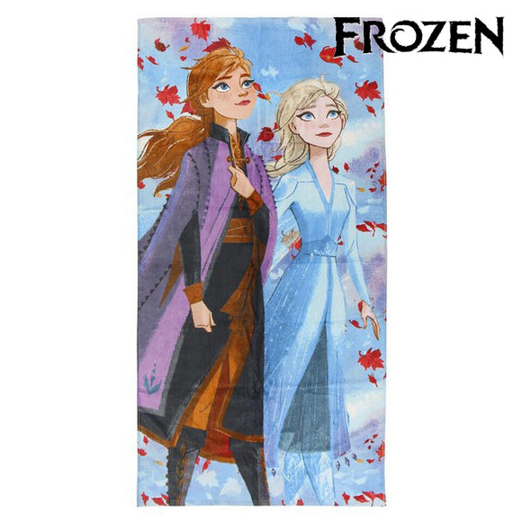 Beach Towel Frozen 75498 Cotton Lilac