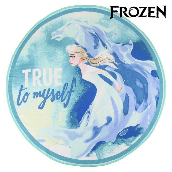 Beach Towel Frozen 75506 Circular Blue