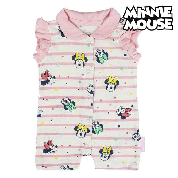 Baby's Sleeveless Romper Suit Minnie Mouse White Pink
