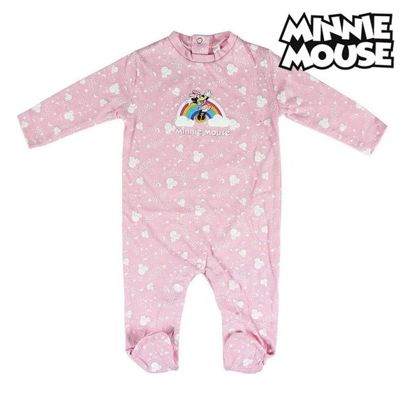 Baby's Long-sleeved Romper Suit Minnie Mouse Pink