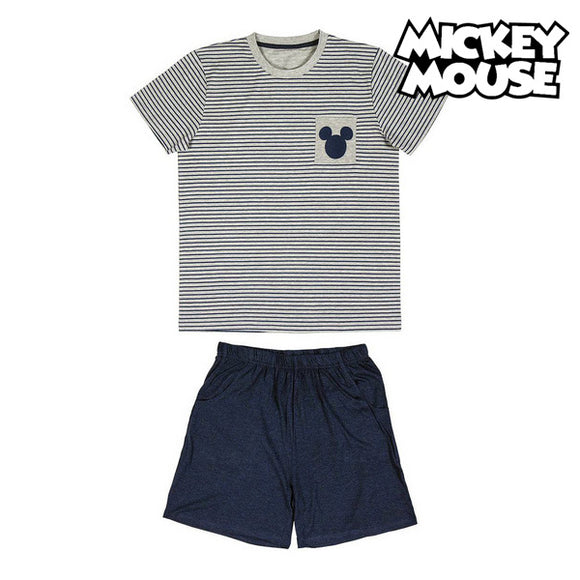 Summer Pyjama Mickey Mouse Grey Adults