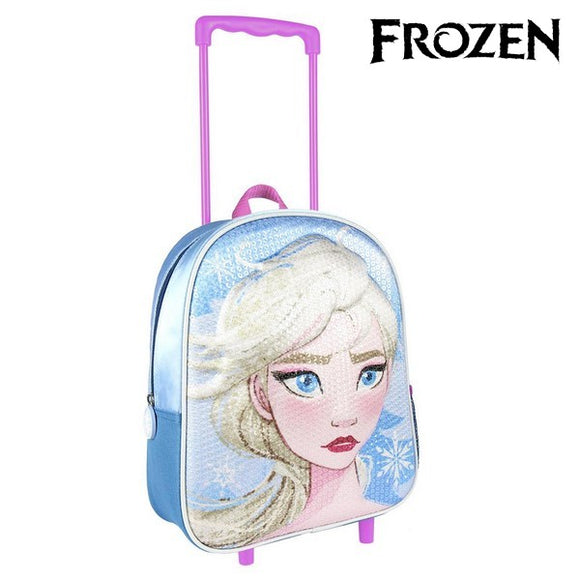 3D School Bag with Wheels Frozen