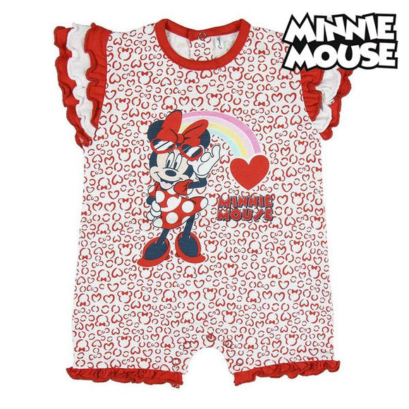 Baby's Short-sleeved Romper Suit Minnie Mouse Red White
