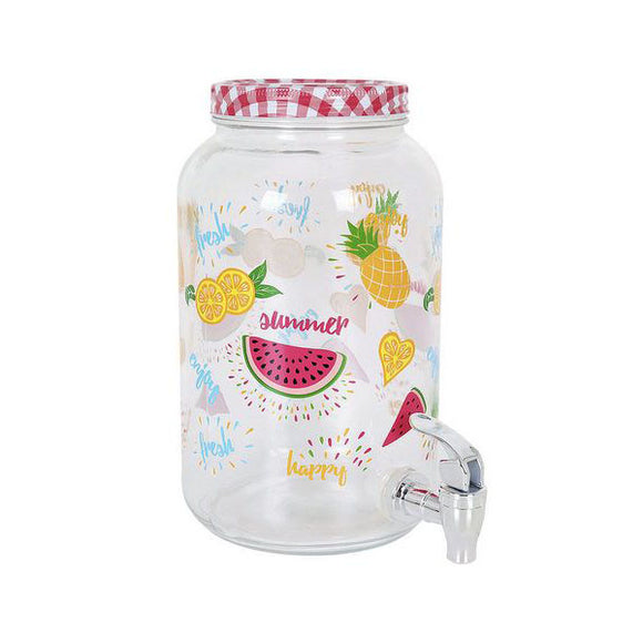 Drinks Dispenser La Mediterránea Rustic 3 l Crystal
