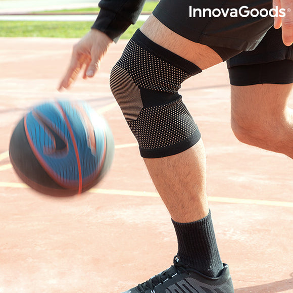 Knee Support with Copper and Bamboo Charcoal Threads Kneecare InnovaGoods