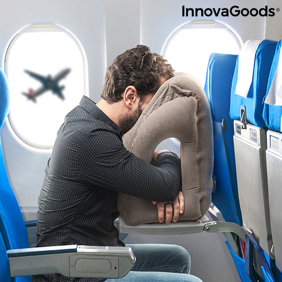 Frontal Inflatable Travel Pillow Snoozy InnovaGoods