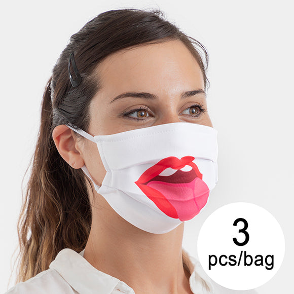 Hygienic Reusable Fabric Mask Tongue Luanvi Size M (Pack of 3)