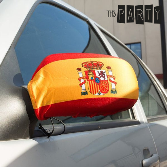Spanish Flag Rear View Mirror Cover (Pack of 2)