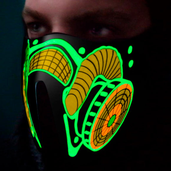 Gas Mask Led Green