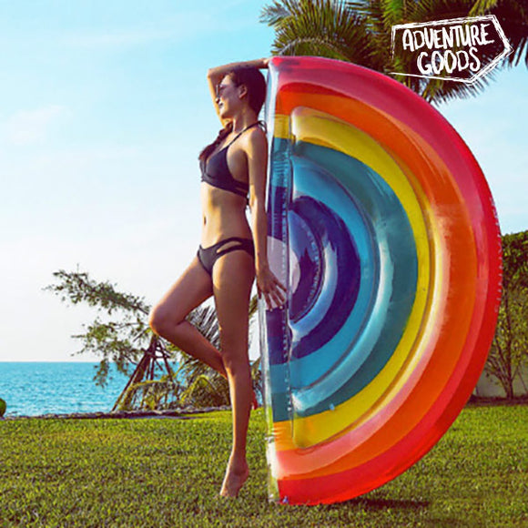 Adventure Goods Inflatable Rainbow Lilo