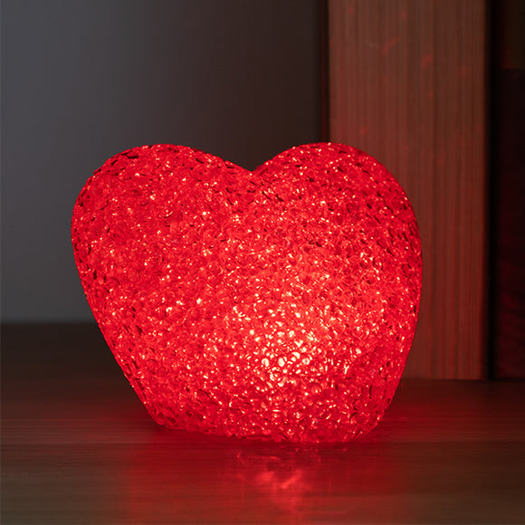 Glitter Multi-Coloured LED Heart