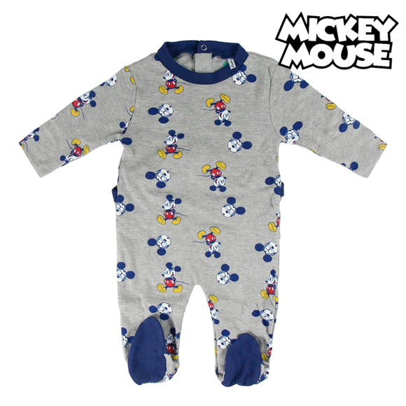 Baby's Long-sleeved Romper Suit Mickey Mouse 74644 Grey