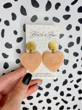 Load image into Gallery viewer, Blush Heart Earrings