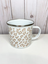 Load image into Gallery viewer, Blush Leopard Print Enamel Mug
