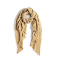 Load image into Gallery viewer, Camel Fringe Scarf