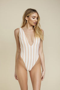 Sand Stripe One Piece Bathingsuit