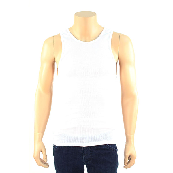 Men's 3 Pack of White Tank Top Undershirts